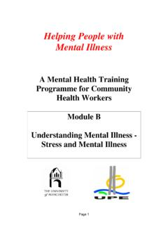 Helping People with Mental Illness - WHO