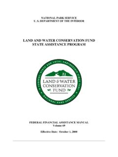LAND AND WATER CONSERVATION FUND STATE …