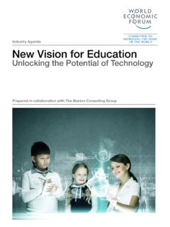 Industry Agenda New Vision for Education