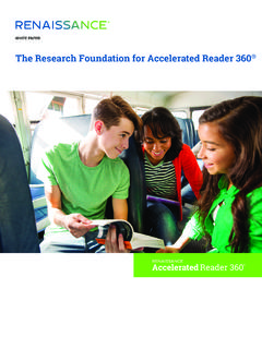 The Research Foundation for Accelerated Reader 360