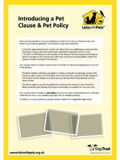 Introducing a Pet Clause & Pet Policy - Lets with Pets
