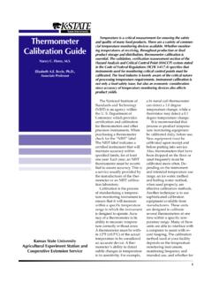 Thermometer Calibration Guide - asi.k-state.edu