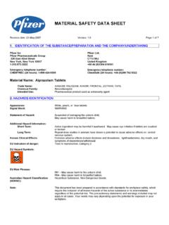 MATERIAL SAFETY DATA SHEET - pfizer.com