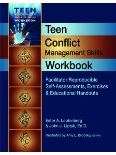 AND LIFE SKILLS WORKBOOK Teen Conflict - Whole …