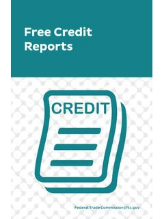 Free Credit Reports - Consumer Information