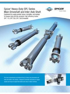 Spicer Heavy-Duty SPL Series Main Driveshaft and Inter ...