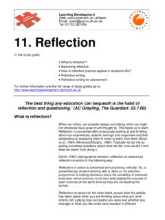 11. Reflection - Free teaching & learning resources for UK ...