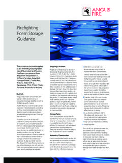 Firefighting Foam Storage Guidance - Angus Fire