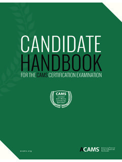 CANDIDATE HANDBOOK - files.acams.org