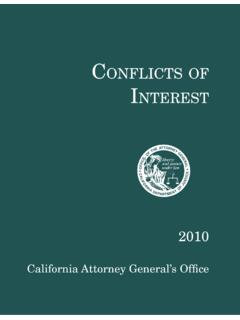 Conflicts of Interest 2010 - State of California