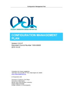 CONFIGURATION MANAGEMENT PLAN - Ocean Leadership