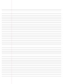a4 narrow lined paper with margin - Resources …