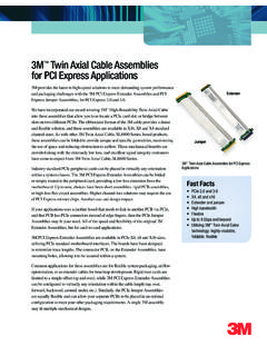 3M Twin Axial Cable Assemblies for PCI Express Applications