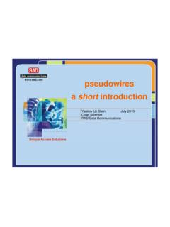 pseudowires a short introduction - DSPCSP