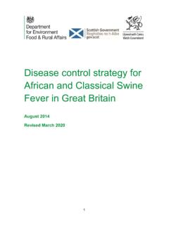 Disease Control Strategy for African and Classical Swine ...