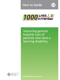 Improving general hospital care of patients who …