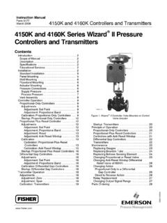 4150K and 4160K Series Wizard II Pressure Controllers and ...