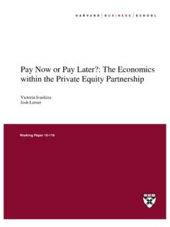 Pay Now or Pay Later?: The Economics within the Private ...