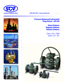 Pressure Balanced Lubricated Plug Valves - API 6D Short ...