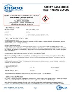 SAFETY DATA SHEET: TRIETHYLENE GLYCOL