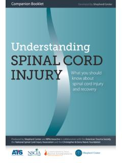 Table of Contents - Understanding Spinal Cord Injury