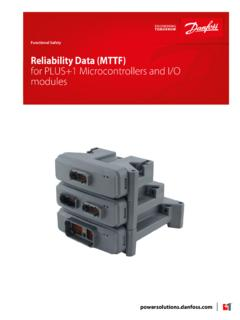Reliability data MTTF for MC and I O modules Functional ...