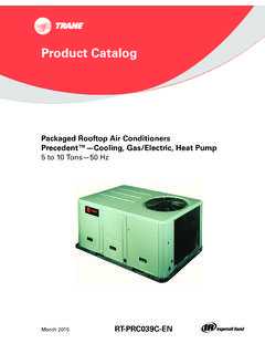 Product Catalog, Packaged Rooftop Air …