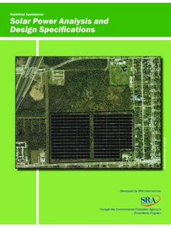 Technical Assistance: Solar Power Analysis and Design ...