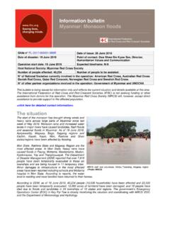 Information bulletin Myanmar: Monsoon floods - …
