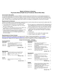 Master of Science in Nursing Psychiatric-Mental …
