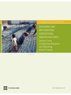 DESIGNING AND IMPLEMENTING AGRICULTURAL …