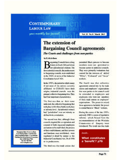 The extension of Bargaining Council agreements