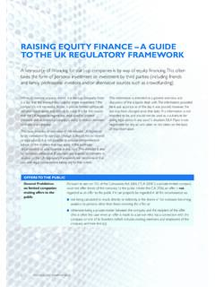 RAISING EQUITY FINANCE – A GUIDE TO THE UK …