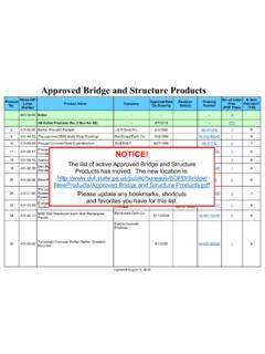 Approved Bridge and Structure Products - PennDOT Home
