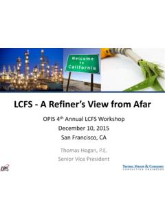 LCFS - A Refiner's View from Afar - Turner, Mason