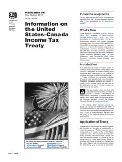 Treaty Income Tax States–Canada the United …
