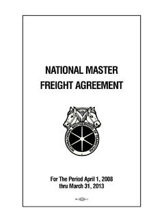 NATIONAL MASTER FREIGHT AGREEMENT - Teamsters
