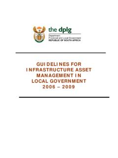 GUIDELINES FOR INFRASTRUCTURE ASSET …