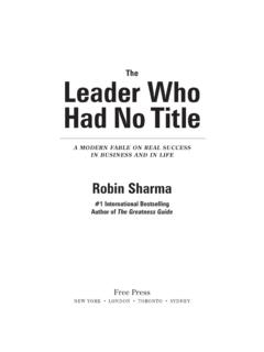 The Leader Who Had No Title - Robin Sharma