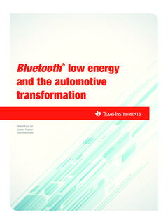 Bluetooth® low energy and the automotive …