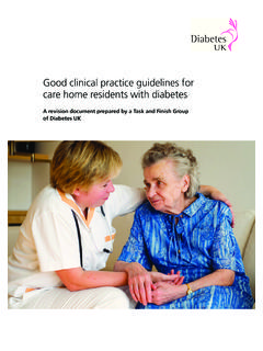 Good clinical practice guidelines for care home residents ...
