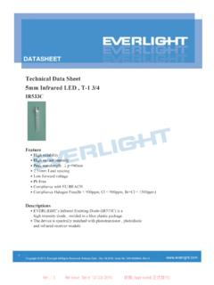 Technical Data Sheet 5mm Infrared LED , T-1 3/4