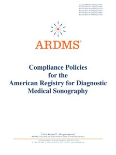 Compliance Policies for the American Registry for ...