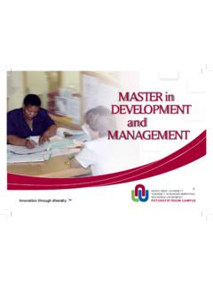 MASTER in DEVELOPMENT and MANAGEMENT