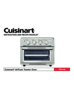 INSTRUCTION AND RECIPE BOOKLET - cuisinart.com