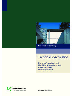 External cladding - James Hardie