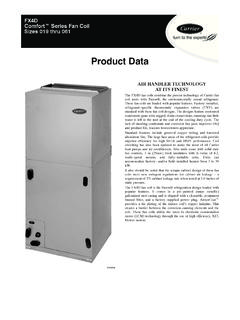 Product Data - Air conditioning