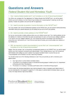 Questions and Answers - Federal Student Aid