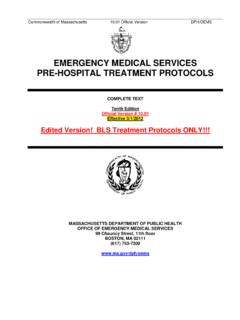 EMERGENCY MEDICAL SERVICES PRE-HOSPITAL …