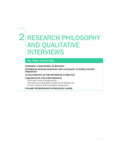 CHAPTER 2 RESEARCH PHILOSOPHY AND …